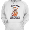 A cat and wine make me happy, humans make me hurt Unisex Hoodie