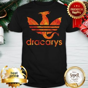 Dracarys Dragon Fire GOT Game Of Thrones Daenerys Targaryen Adidas Logo Shirt