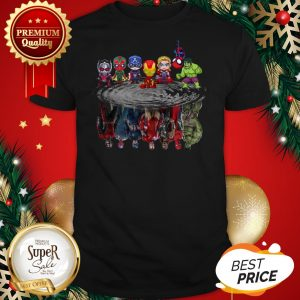 Marvel Avengers Chibi Characters Water Reflection Mirror Shirt