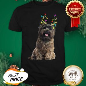 Official Cairn Terrier Reindeer Christmas Light Shirt
