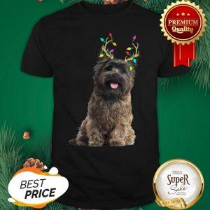 Official Cairn Terrier Reindeer Christmas Light Shirt
