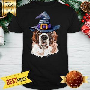 Saint Bernard Witch Hat Halloween Shirt