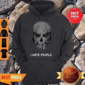 I Hate People Disneyland Haunted Mansion Skull Hoodie