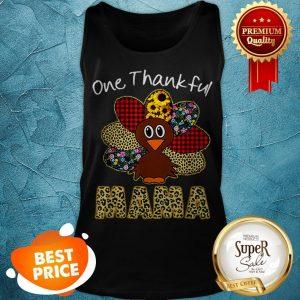 Premium One Thankful Mama Happy Thanksgiving Turkey Tank Top