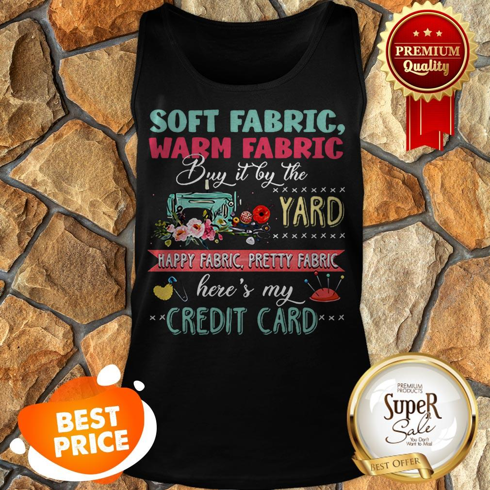 Soft Fabric Warm Fabric Buy It By The Yard Happy Fabric Credit Card Tank Top