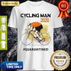 Nice Cycling Man Mask 2020 Quarantined Coronavirus Shirt