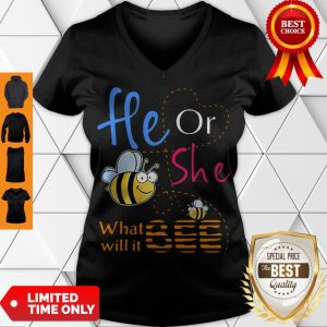 Official He Or She What Will It Bee V-neck