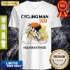 Nice Cycling Man Mask 2020 Quarantined Coronavirus V-neck
