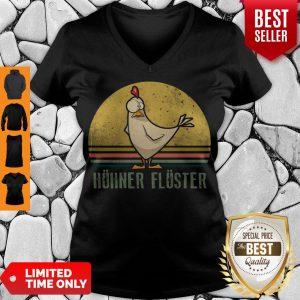 Top Huhner Fluster Vintage V-neck