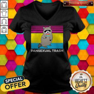 Vintage Pansexual Trash V-neck