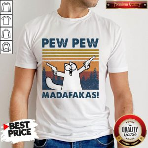 Cute Simon's Cat Pew Pew Madafakas Vintage Shirt