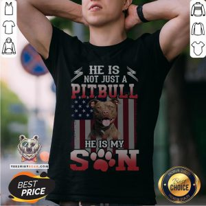 He Is Not Just A Pitbull Se Is My Son American Flag Shirt - Design By Teeshirtbear.com
