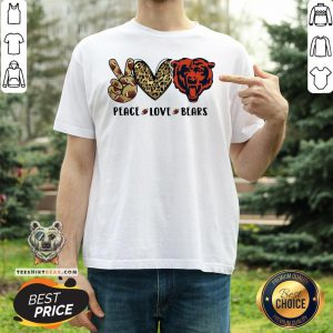 Hot Peace Love Chicago Bear Logo Shirt - Design By Teeshirtbear.com