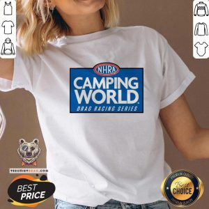 Official NHRA Camping World Drag Racing Series V-neck - Design By Teeshirtbear.com