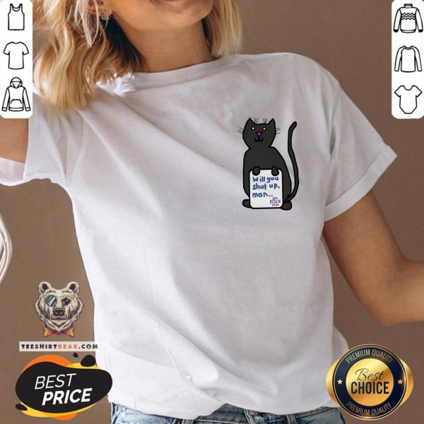 Small Cat With Joe Biden First Debate Quote V-neck