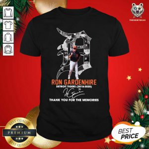 Ron Gardenhire Detroit Tigers 2018 2020 Thank You For The Memories Signature Shirt - Design By Teeshirtbear.com