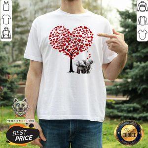 Pretty Elephant Heart Tree Shirt - Design By Teeshirtbear.com