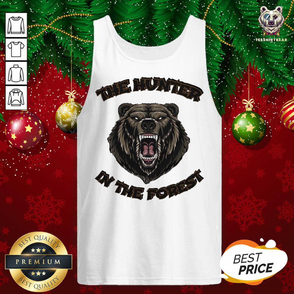 Bear The Hunter In The Forest Tank Top - Design By Teeshirtbear.com