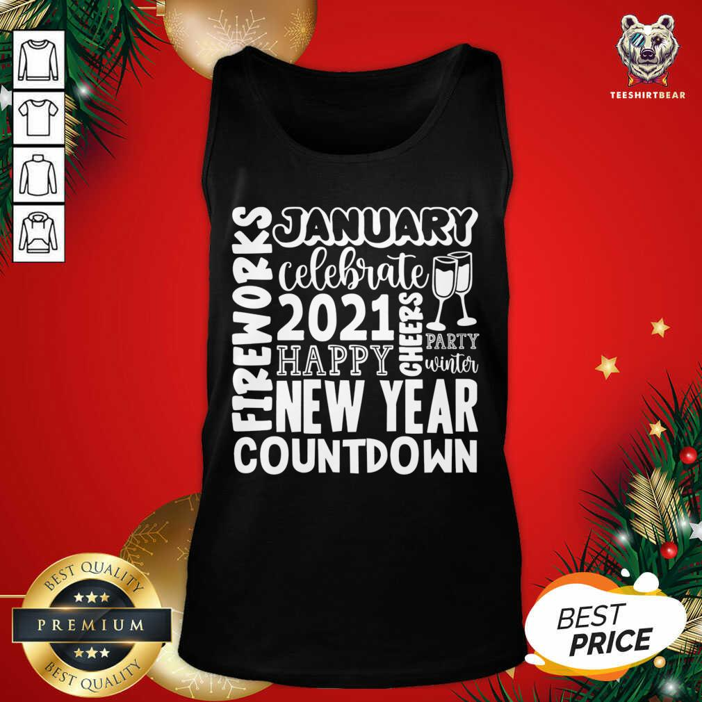 2021 Happy New Year Cheers Celebrate Celebrate New Year 2021 Gifts Tank Top - Design By Teeshirtbear.com