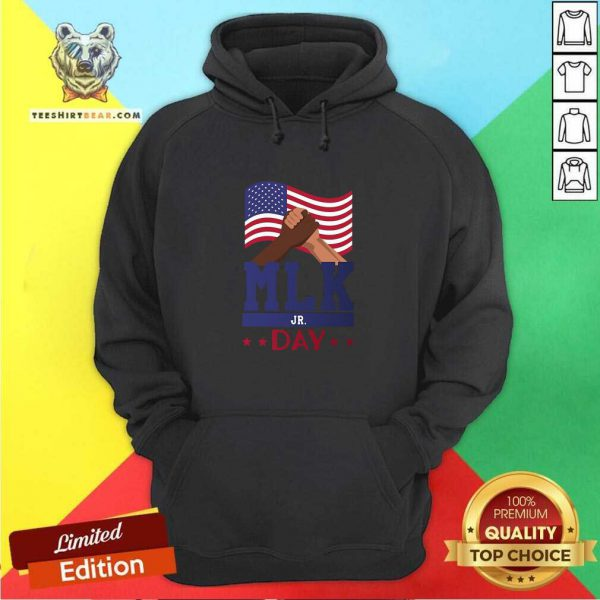 Martin Luther King Jr Day MLK Fist Freedom Hoodie