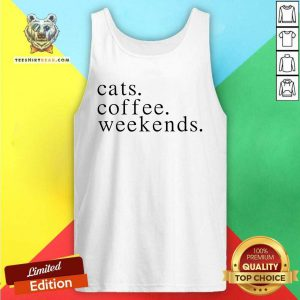 Lovely Cats Coffee Weekends Tank Top