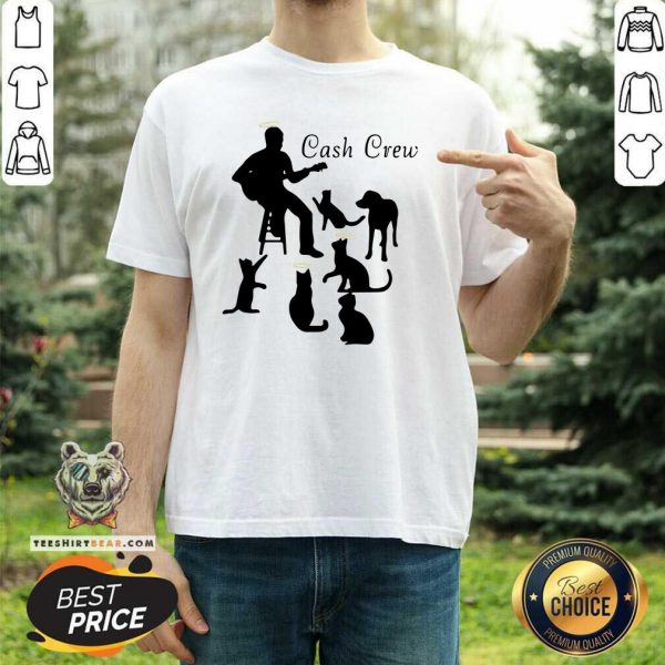 Lovely Man Play Guitar And Cat Cash Crew Shirt