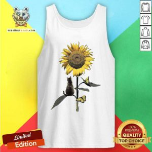 Beautiful Cat And Sunflower Tank Top