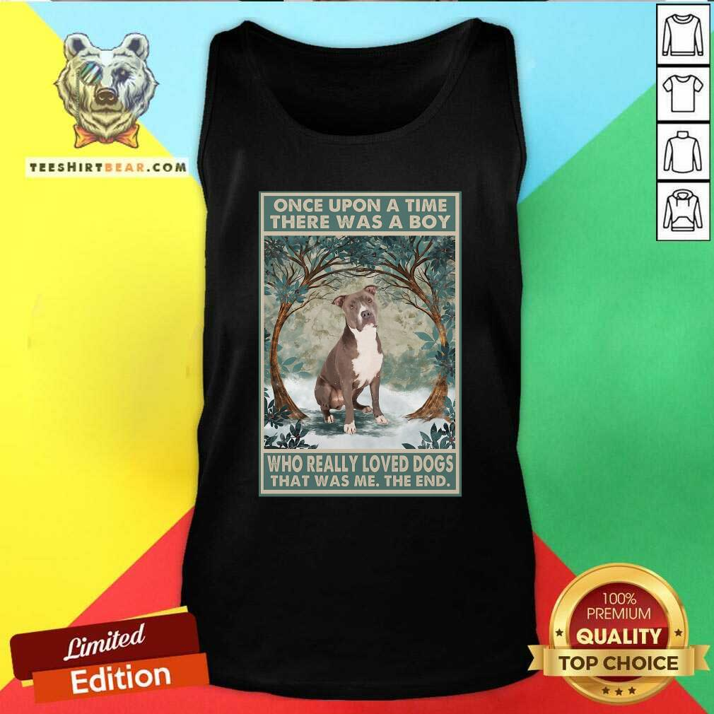 Top Staffordshire Terrier Once Upon A Time Boy Vertical Poster Tank Top