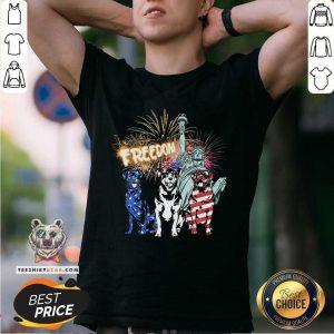 Rottweiler American Patriot Freedom Liberty Shirt