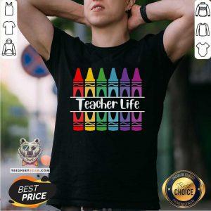 Official Crayon Teacher Life Shirt
